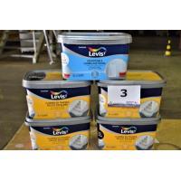 5 potten verf a LEVIS 2l voor tvloeren en trappen