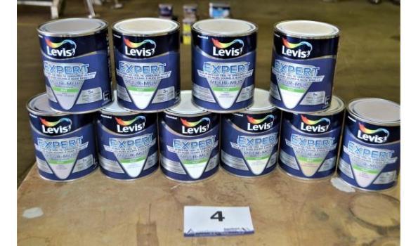 10 potten muur verf LEVIS Expert