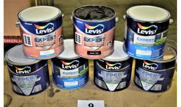7 potten verf LEVIS Expert