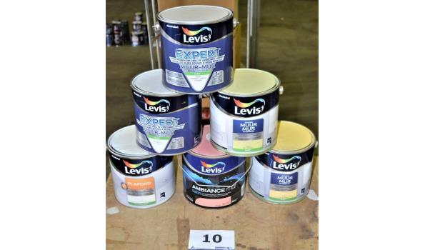 6 potten diverse verf LEVIS