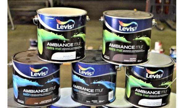 9 potten verf LEVIS Ambiance voor muren