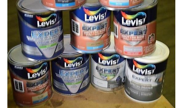 10 potten verf LEVIS Expert voor hout