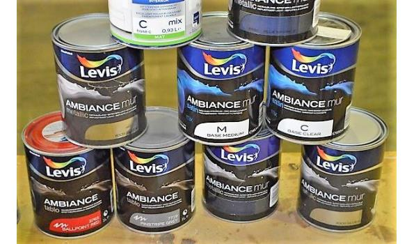 10 potten verf LEVIS Ambiance voor muren