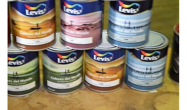 11 potten verf/lak LEVIS Colores Del Mundo