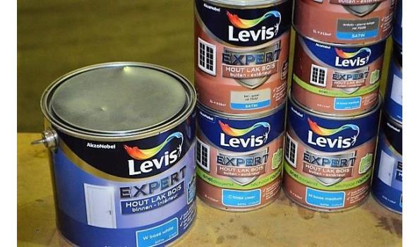 11 potten verf LEVIS Expert Hout lak