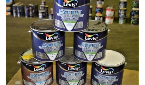 6 potten verf LEVIS Expert voor muur en gevel