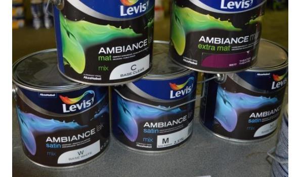 7 potten verf LEVIS Ambiance