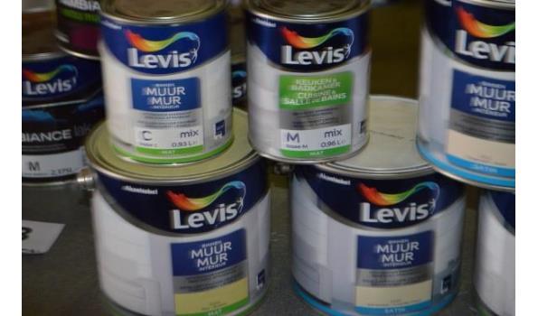 6 potten verf LEVIS voor binnenmuren