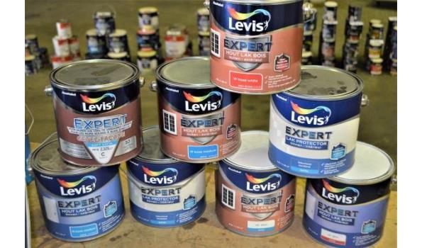 8 potten verf LEVIS Expert hout lak en protector