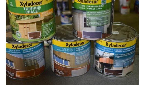 6 potten XYLADECOR hout beits en bescherming