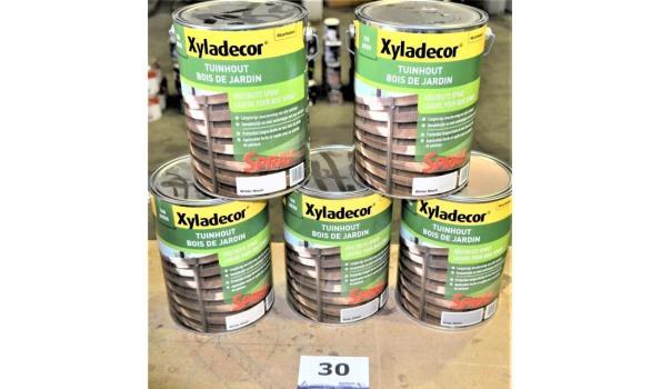 5 potten XYLADECOR houtbeits