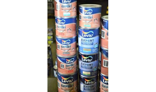 15 potten verf LEVIS Expert houtlak