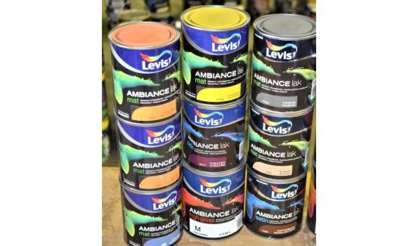 15 potten verf LEVIS Ambiance lak