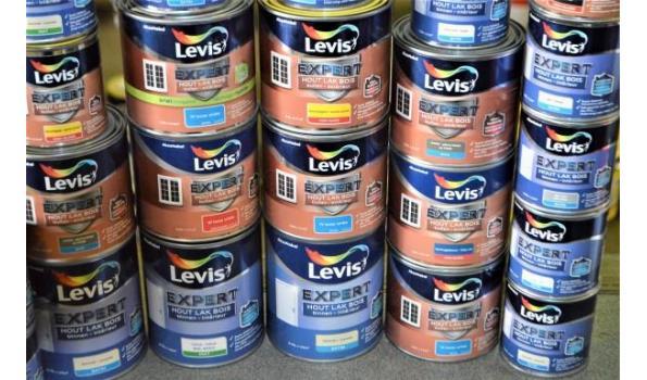 28 potten verf LEVIS Expert hout lak