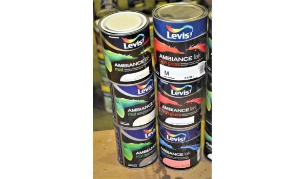 12 potten verf LEVIS Ambiance