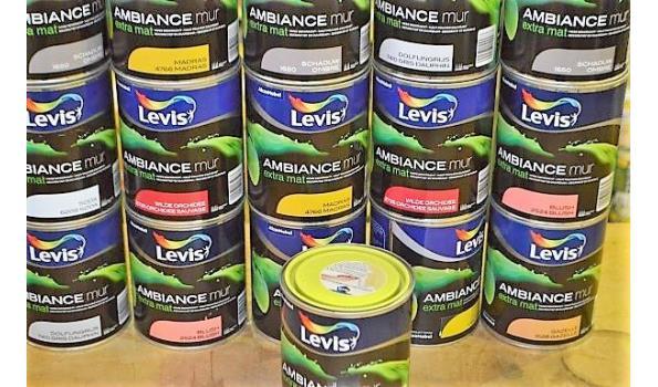 16 potten verf LEVIS Ambiance muur