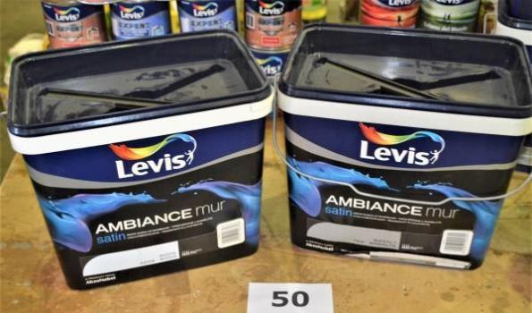 2 potten verf LEVIS Ambiance muur