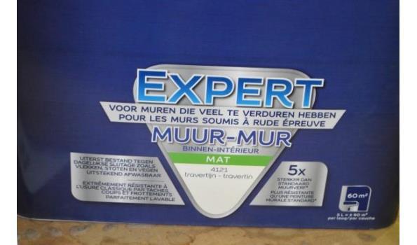 2 potten verf LEVIS Expert muur