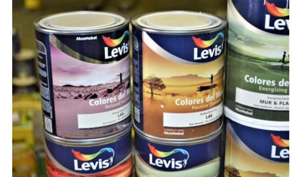 15 potten verf LEVIS Colores del mundo