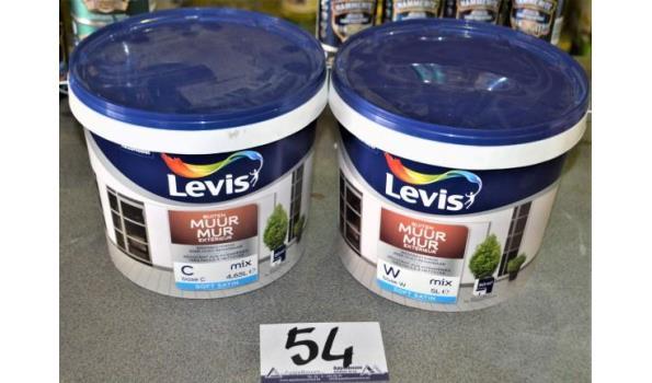 2 potten verf LEVIS muur