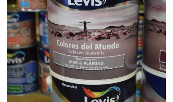 6 potten verf LEVIS colores del mundo plafond en muur