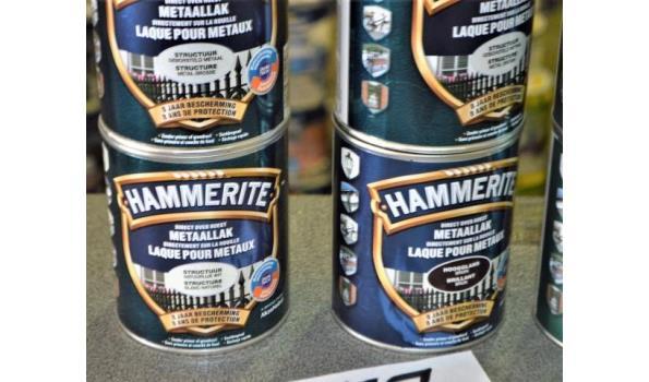 9 potten metaallak HAMMERITE