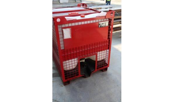 pvc container in stalen kooi HESSENTALER CONTAINER, cap 845Ltr