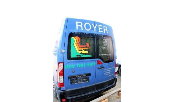 lichte vrachtwagen RENAULT Master, diesel, 2299cm³, 92kW, 1e inschr 06/04/12, chassisnr VF1MAF4DE46892071, 146020km, CO²-uitstoot 226g/km, Euro5, MTM 3500kg, Tarra 2164kg, compl met kentekenbewijs, gelijkvormigheidsattest, keuring tot 29/04/21, 1sleutel