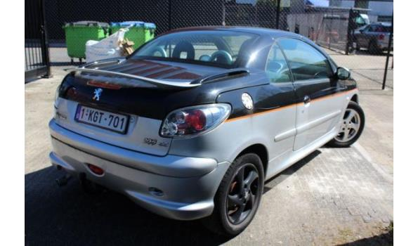 personenwagen PEUGEOT 206cc, diesel, cm³ ng, kW ng, 1e inschr ng, chassisnr VF32DNFUF43723233, 172768km, CO²-uitstoot ng, Euro ng, compl met:  ZONDER BOORDDOCUMENTEN, 2sleutels,