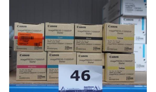 8 toners CANON voor gebruik met ImagePRESS c10000VP