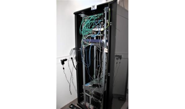IT-rack inhoudende server HP proliant DL380G5 en datastorage unit HP, paswoorden niet gekend