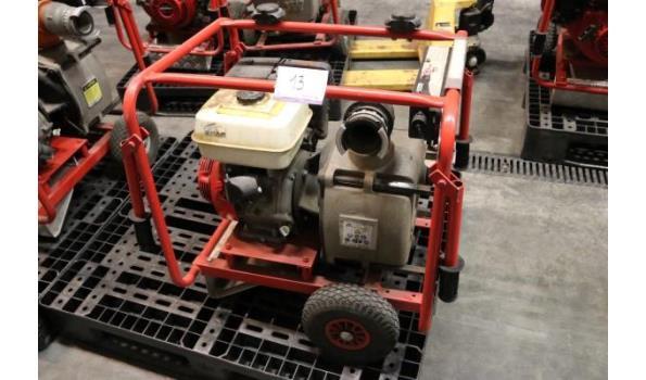 waterpomp STOW T350, aangedreven door motor HONDA GX240, 104 werkuren