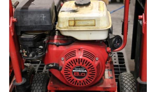 waterpomp STOW T350, aangedreven door motor HONDA GX240, plm 116 werkuren