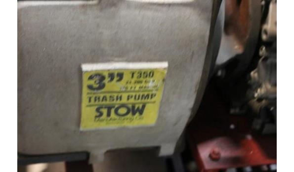 waterpomp STOW T350, aangedreven door motor HONDA GX240, plm 85 werkuren