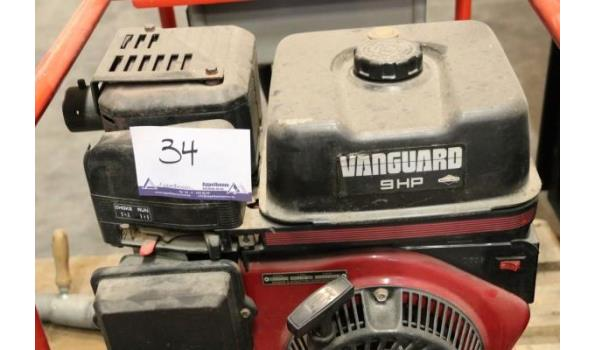 stroomgroep KIRCH 6BSV, aangedreven door VANGUARD 9Hp, werkuren 181