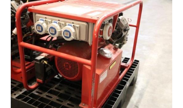 stroomgroep KIRCH 9 BSVE, aangedreven door VANGUARD 9Hp, werkuren 15, rubberen steun onder de motor gescheurd