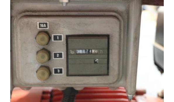 stroomgroep KIRCH 9 BSVE, aangedreven door VANGUARD 9Hp, werkuren 74
