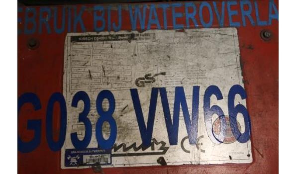 stroomgroep KIRCH BH28SV, aangedreven door VANGUARD 9Hp, werkuren 85