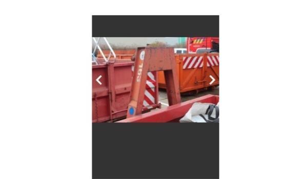 lage open container met optrekhaak, afm plm 5600x2500x500mm,