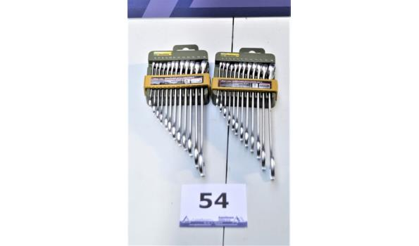 2 twaalfdelige ringsleutelsets PROXXON