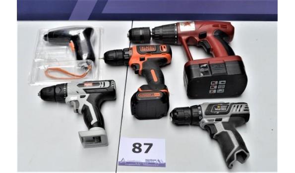 5 div elektrische gereedschappen w.o. incompleet