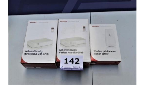 3 HONEYWELL prodcuten w.o. wireless hub