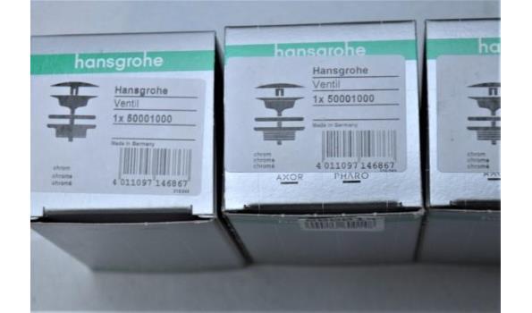 7 universele afvoerpluggen HANSGROHE 50001000