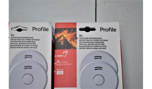 4 optische rookmelders PROFILE