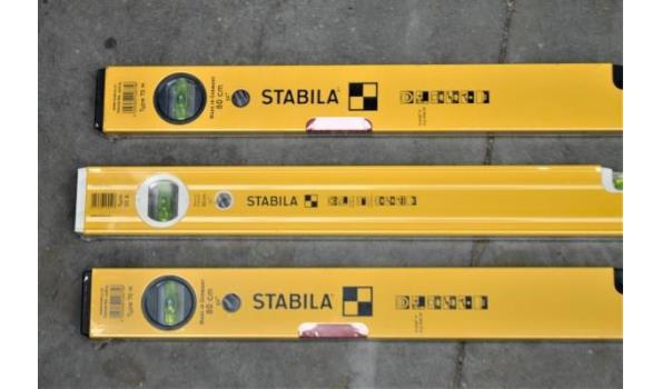 3 waterpassen STABILA ype 80A en 70M