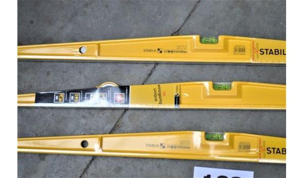 3 waterpassen STABILA type 81S