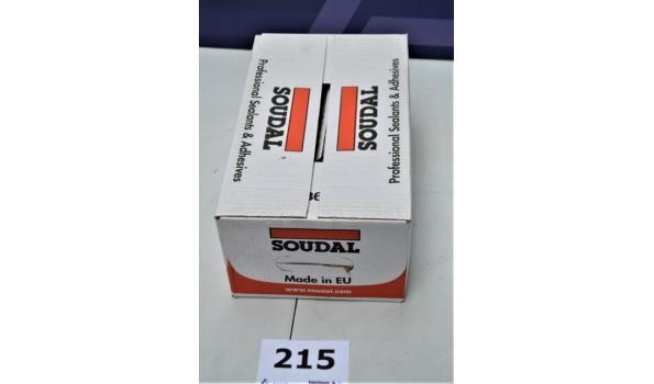 doos inhoudende 12 tubes a 600ml gevelkit SOUDALSEAL 215LM