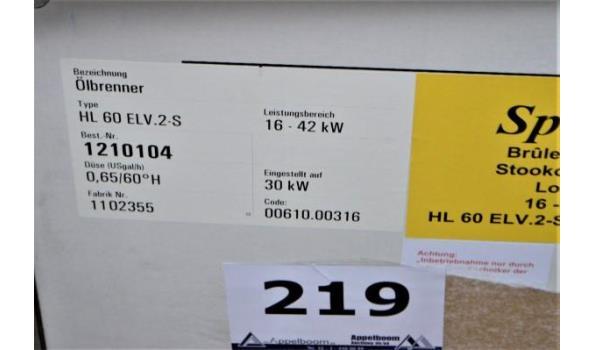 stookoliebrander SPITFIRE HL 60 ELV 16-42Kw