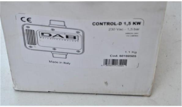 pompsturing DAB Control D, 1,5Kw