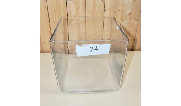 Glazen pot afm. 25x25x25. handgemaakt